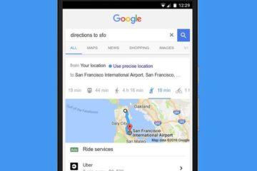 Google Taxi Suche