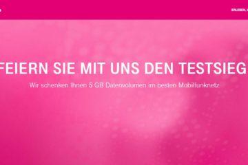 Telekom 5 GB Aktion