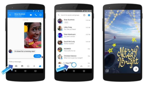 Facebook Messenger Kamera Update