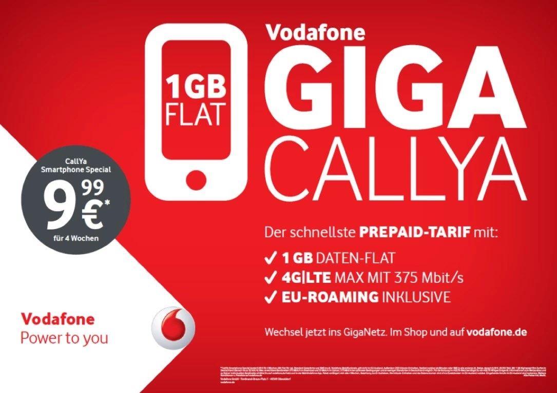 Vodafone 1 GB CallYa Januar 2016