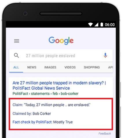 Google Suche Faktencheck