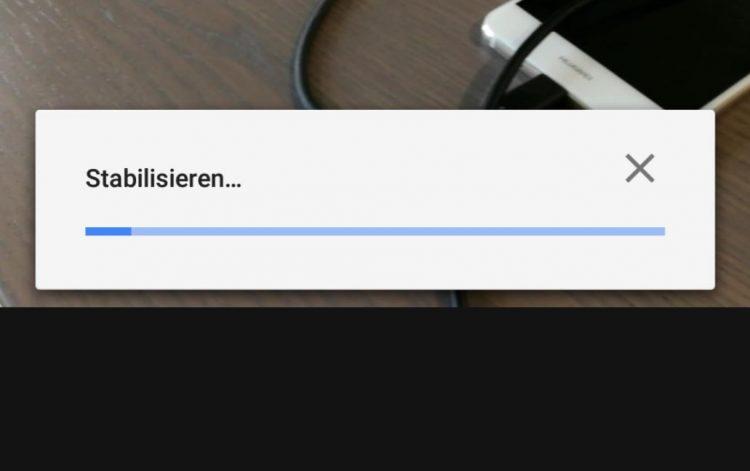 Google Fotos Videostabilisierung