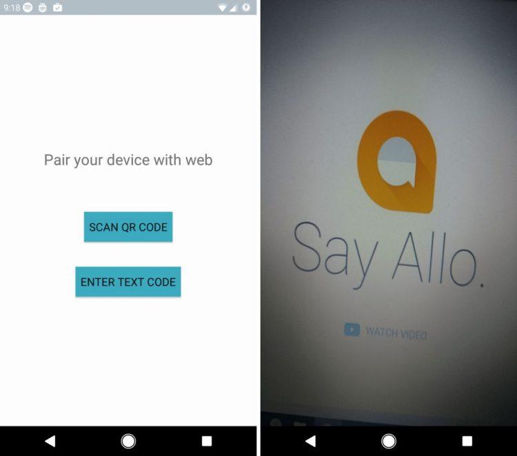 Google Allo Desktop Leak