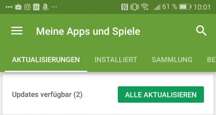 Meine Apps und Spiele Play Store