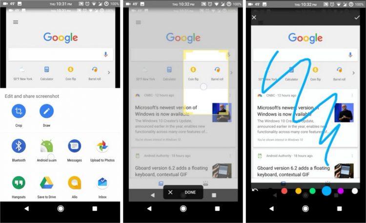 Google Assistent Screenshot Tool