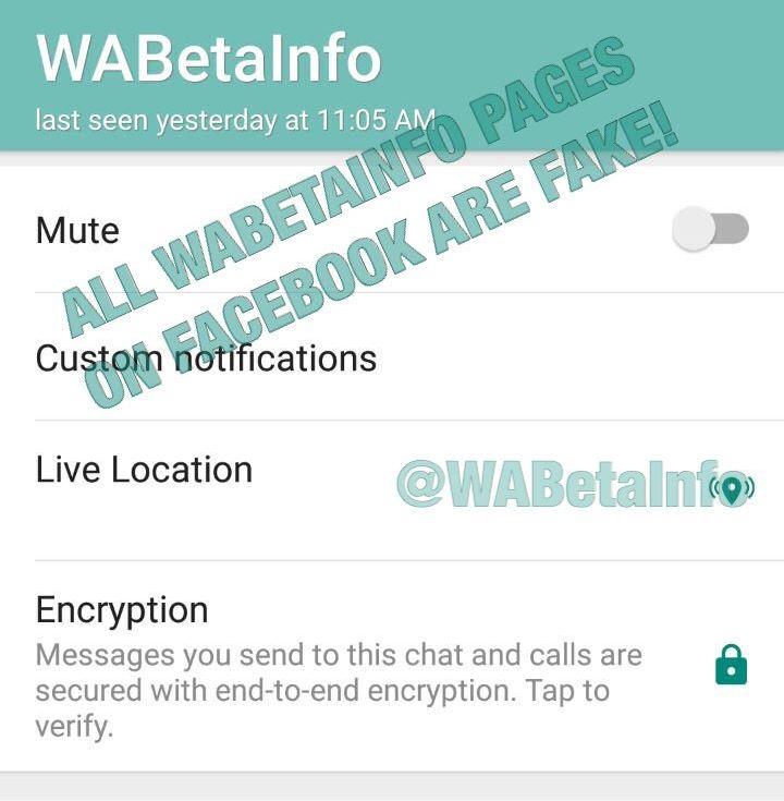 WhatsApp Beta Live Standort Leak
