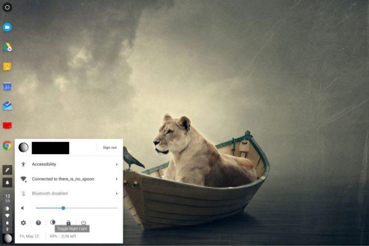 Chrome OS Nachtmodus