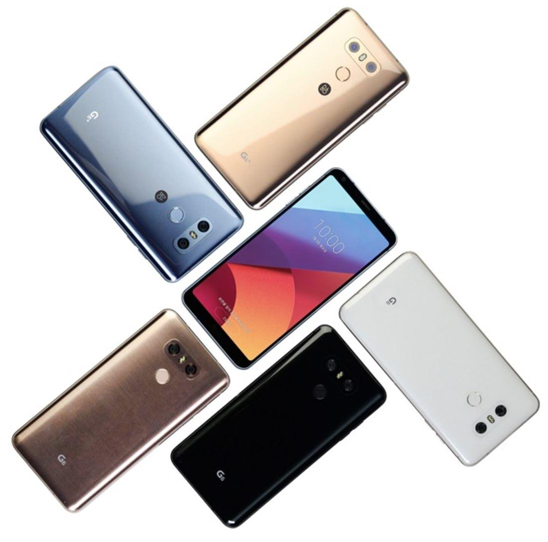 LG G6 Farben Blau Gold