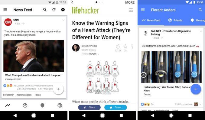 Touch Facebook App für Android