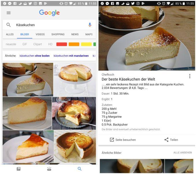 Google Bildersuche Rezepte