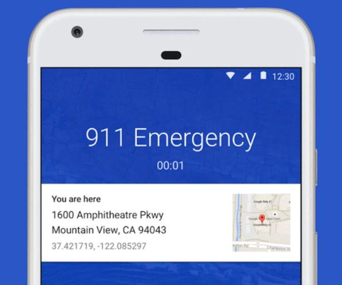 Google Telefon App Notruf Standort
