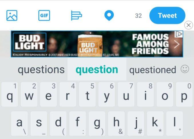 HTC Touchpal Werbung Screenshot