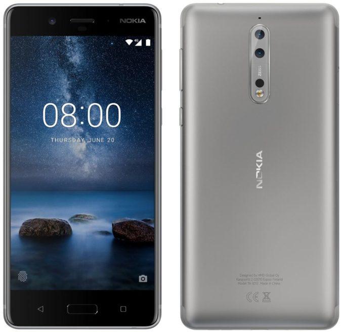Nokia 8 silber