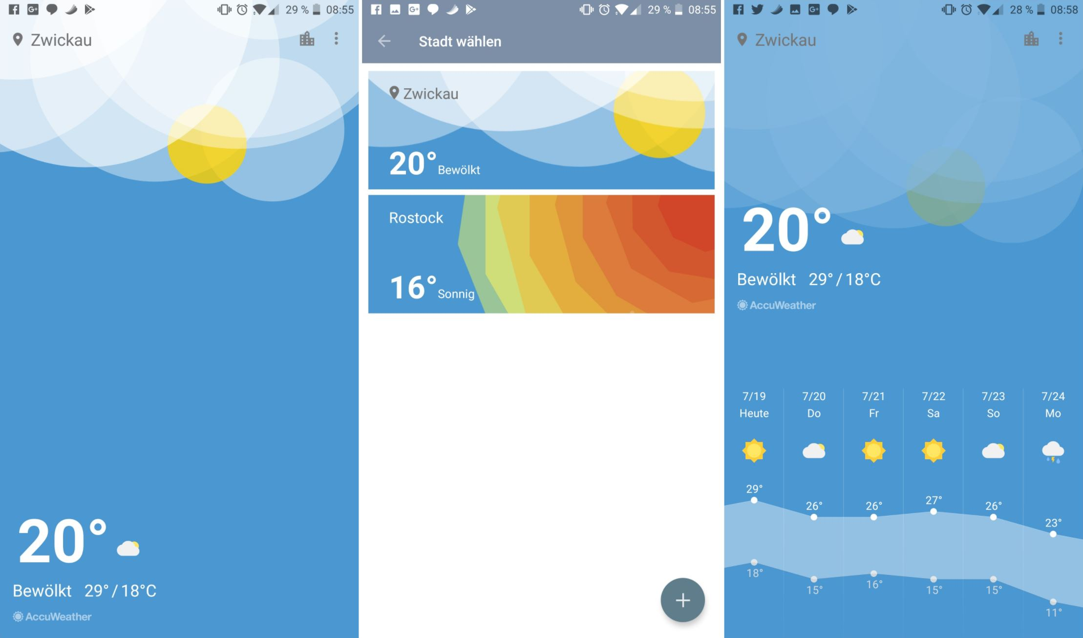 OnePlus Wetter App