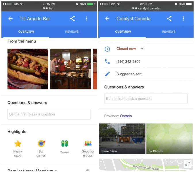 Q&A Maps und mobile Suche