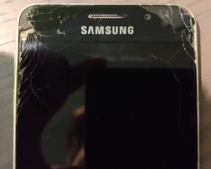 Samsung Defektes Smartphone Displayschaden Header
