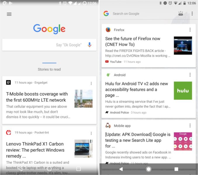 Google Feed Pixel Launcher Update August 2017