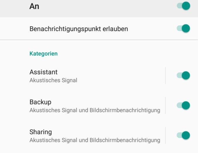 Android 8 Benachrichtigungs-Kanäle