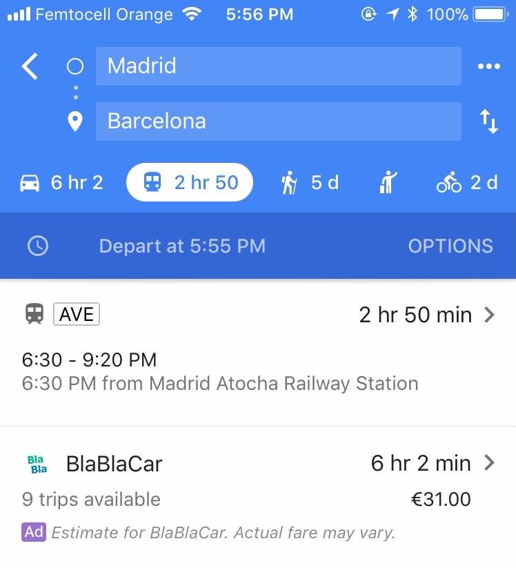 BlaBlaCar Maps