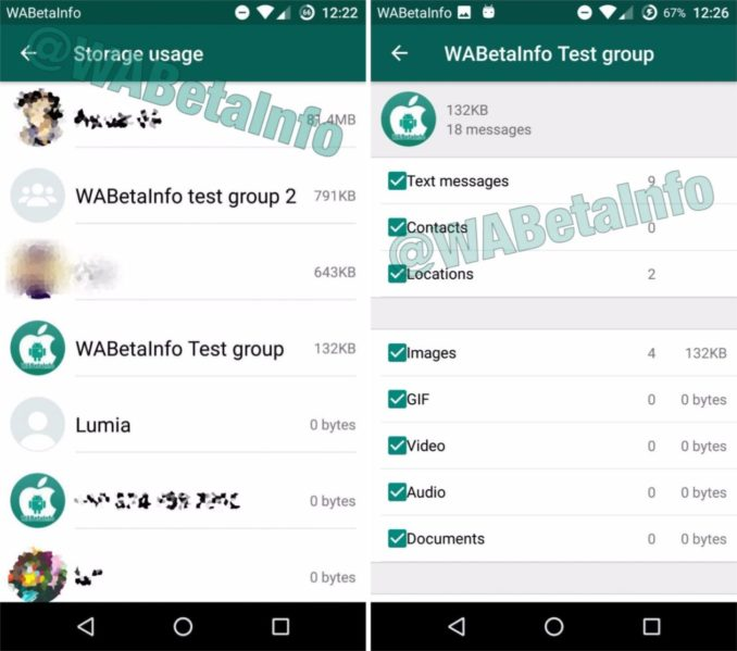 WhatsApp Speichermanagement Leak
