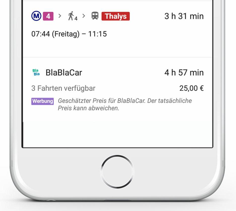 BlaBlaCar Google Maps