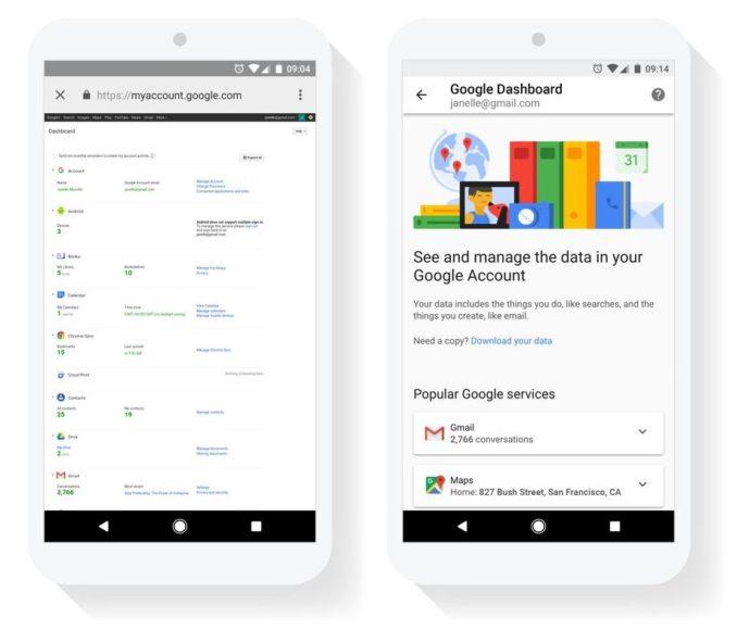 Google Dashboard Update September 2017