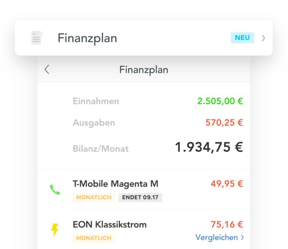 Outbank Finanzplan