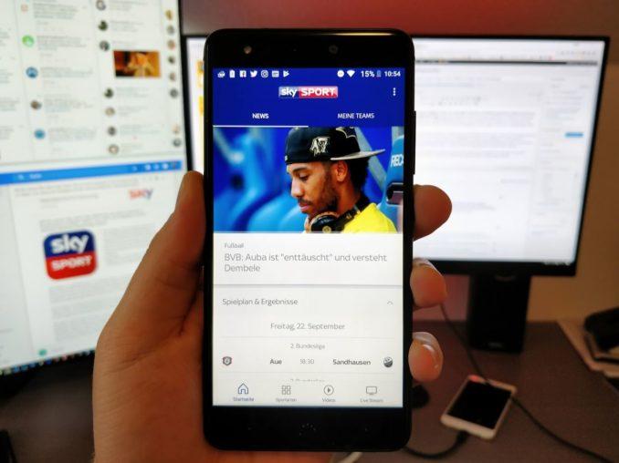 Sky Sport App Header