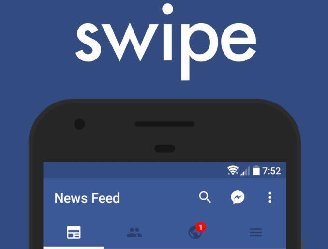Swipe Facebook App Header