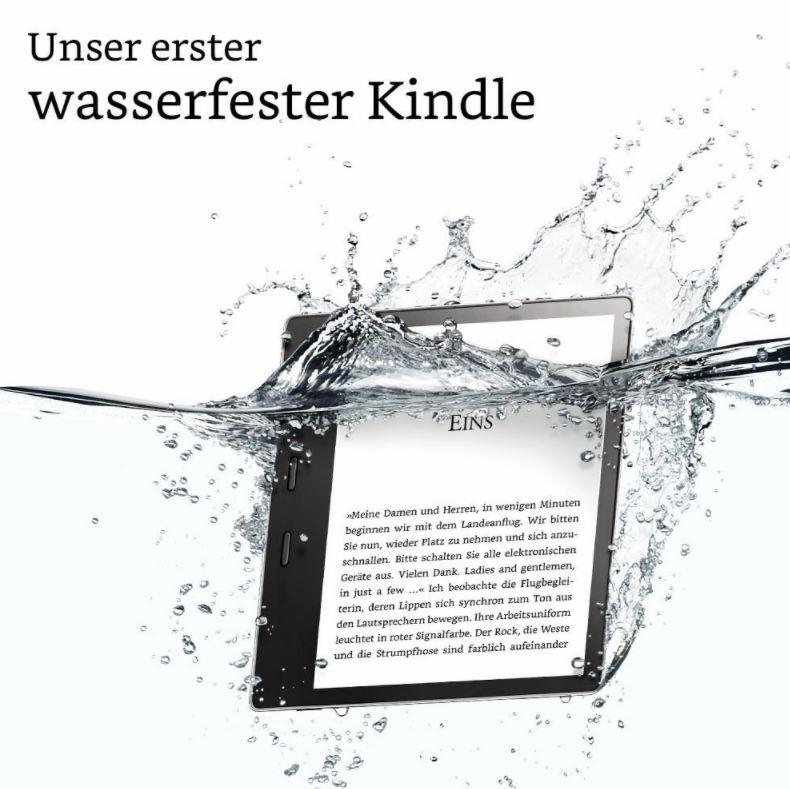 Amazon Neuer Kindle Oasis Ist Wasserdicht Und Beherrscht