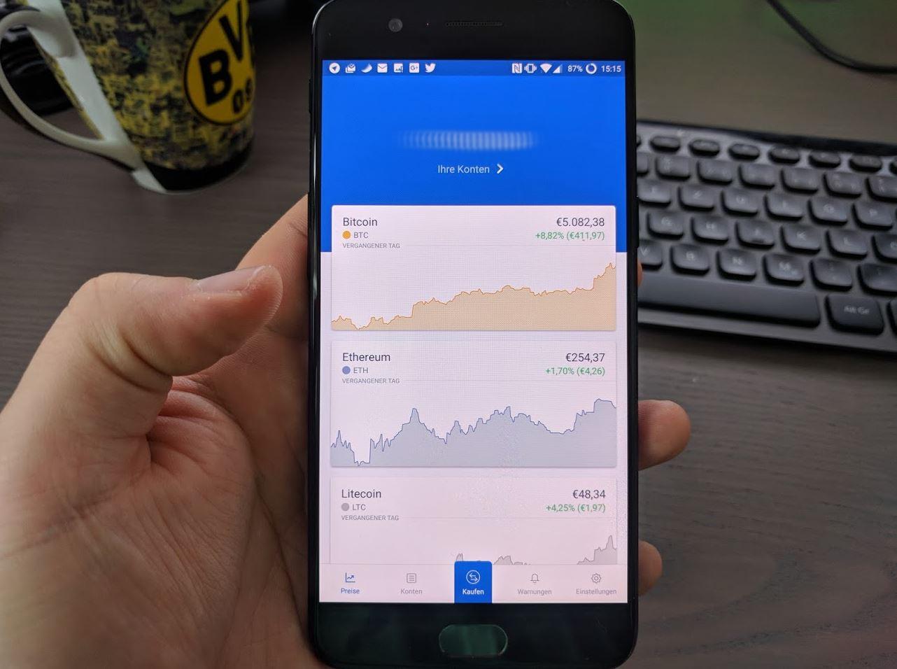 Coinbase Update Oktober 2017