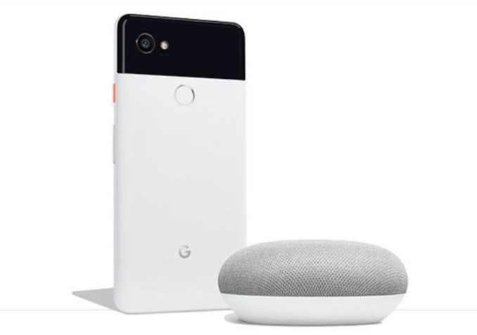 Google Pixel 2 plus Google Home Mini Aktion