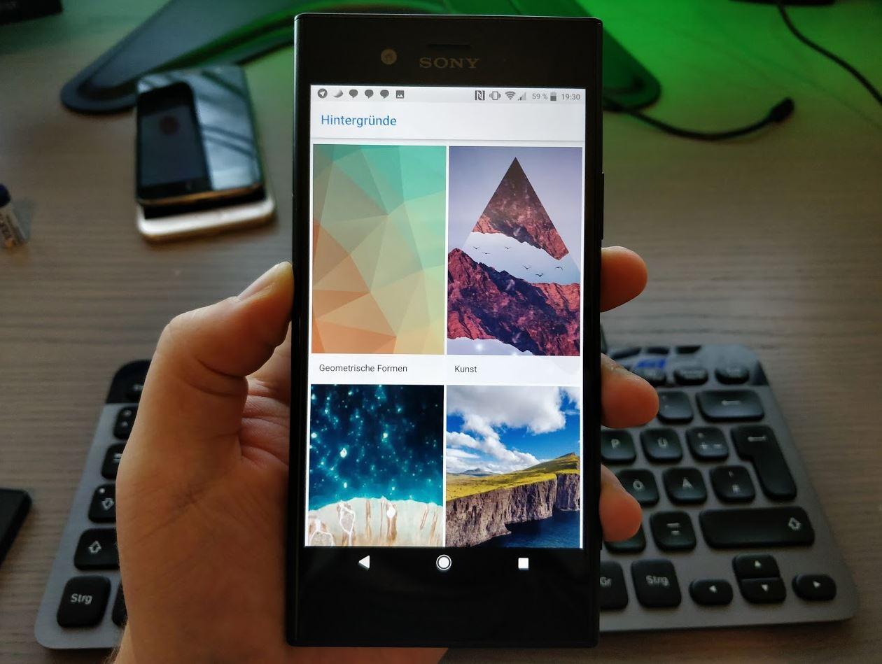 Google Wallpaper App Header