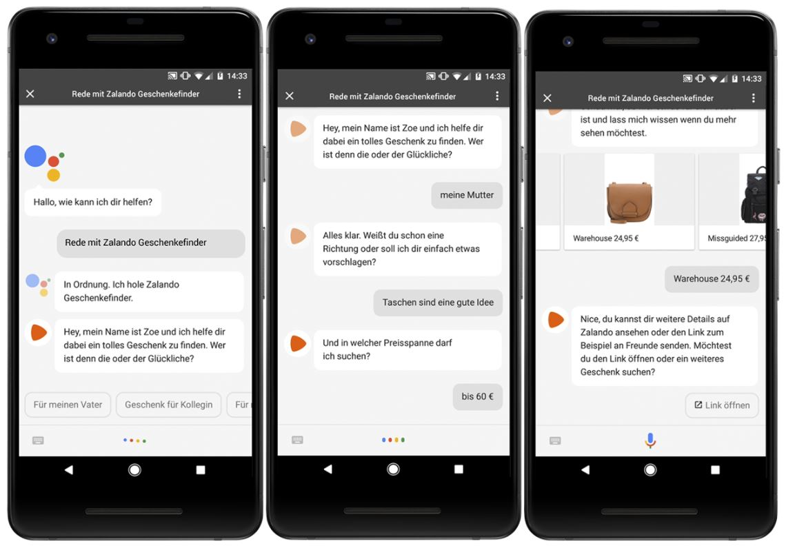 Zalando Actions on Google