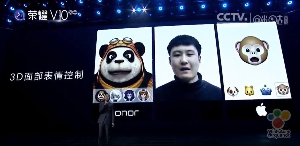 Huaweis Nachbau von Apples Face ID und Animoji