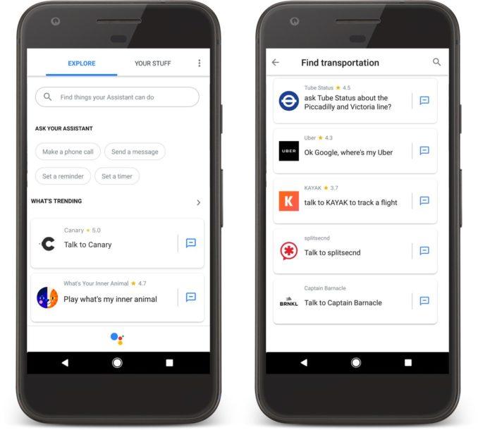 Google Assistant App Verzeichnis