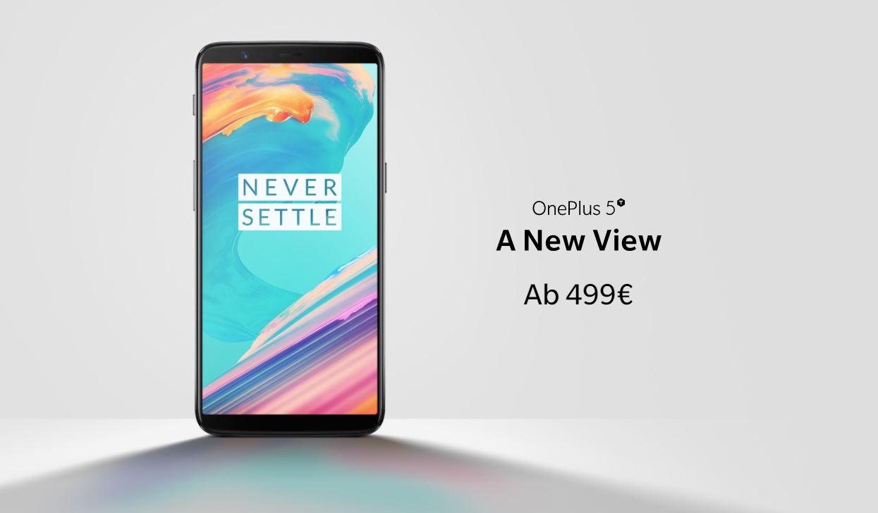 OnePlus 5T Header mit Preis