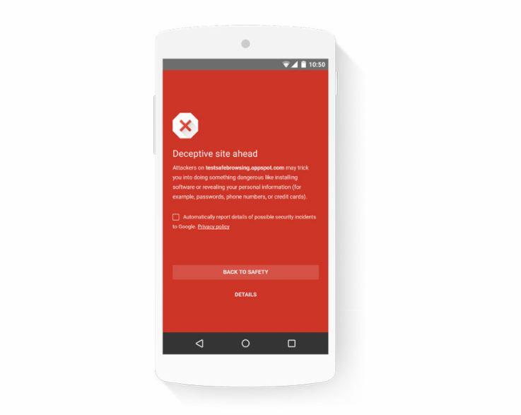 Google Safe Browsing Header