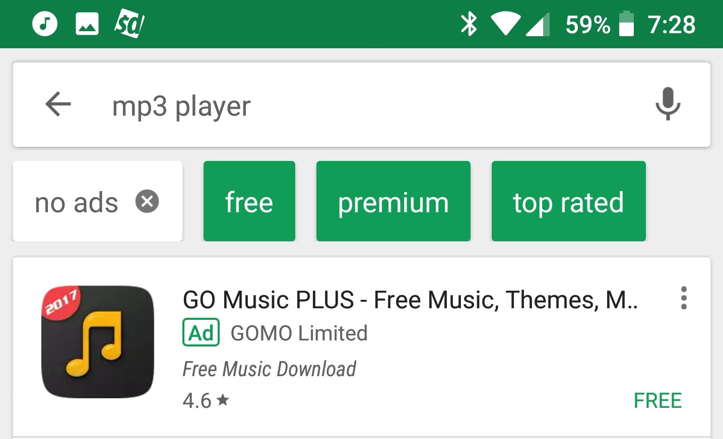 Neue Play Store Filter Dezember 2017