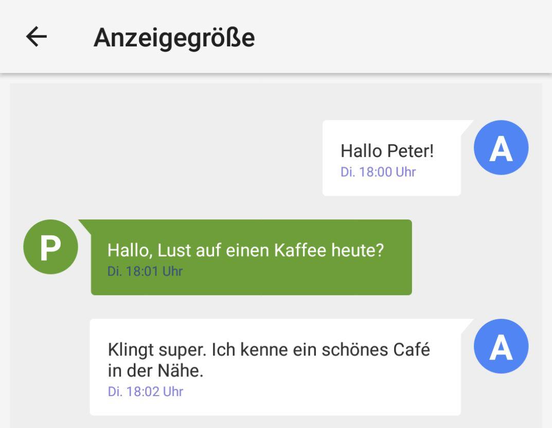 Android Anzeigengröße Header
