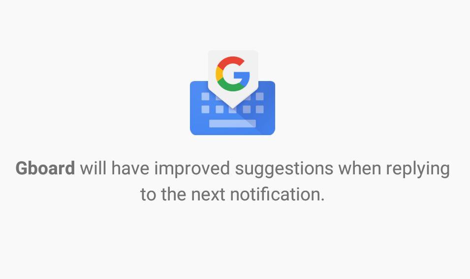 Gboard Smart Replay Notifications