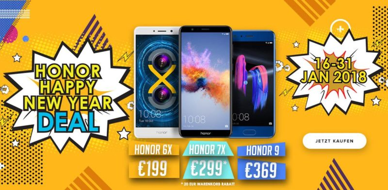 Honor New Year Deal 2018