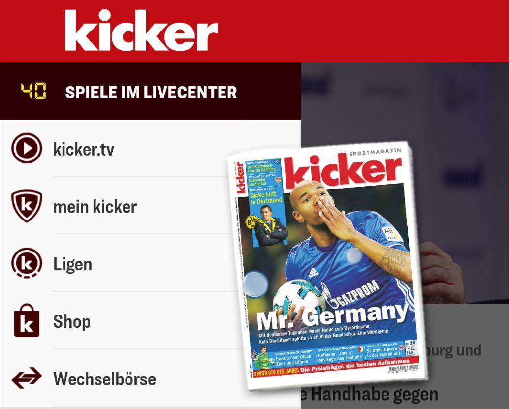 kicker App Header