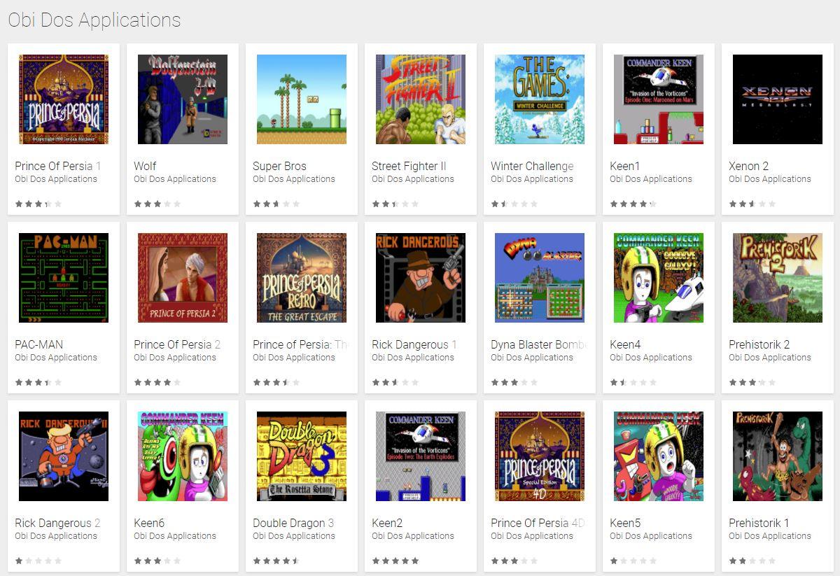 Obi Dos im Google Play Store