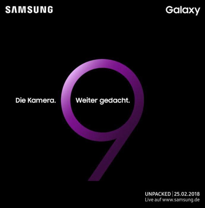 Samsung Galaxy S9 Teaser Event Februar 2018