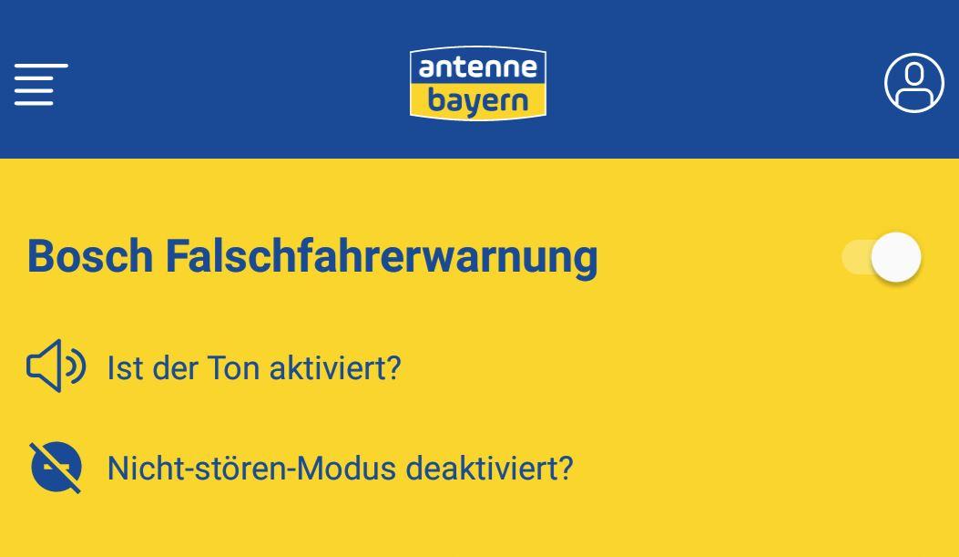 Antenne Bayern Falschfahrerwarnung