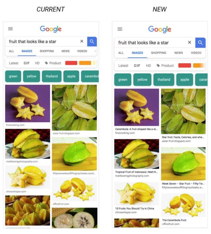 Google Bildersuche Update 3 2018