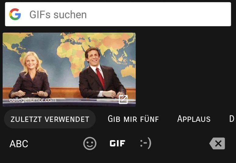 Gboard GIF Suche