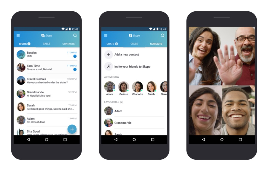 Skype Screenshots Android Smartphone