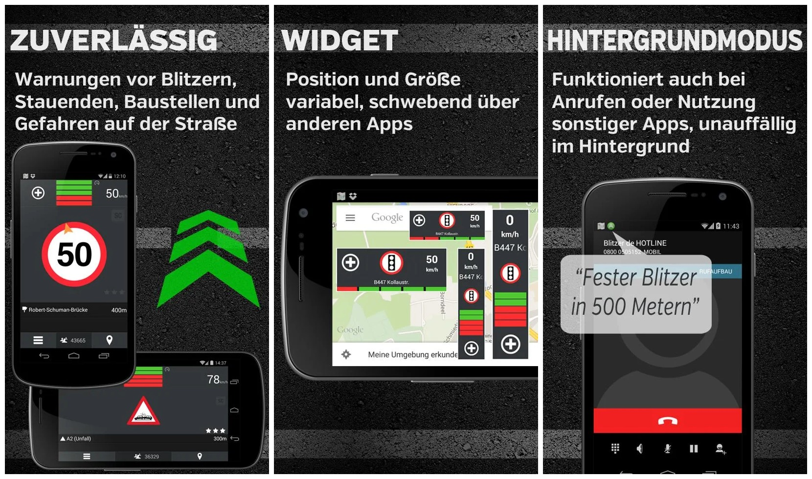 Blitzer.de Plus App Screenshots Header